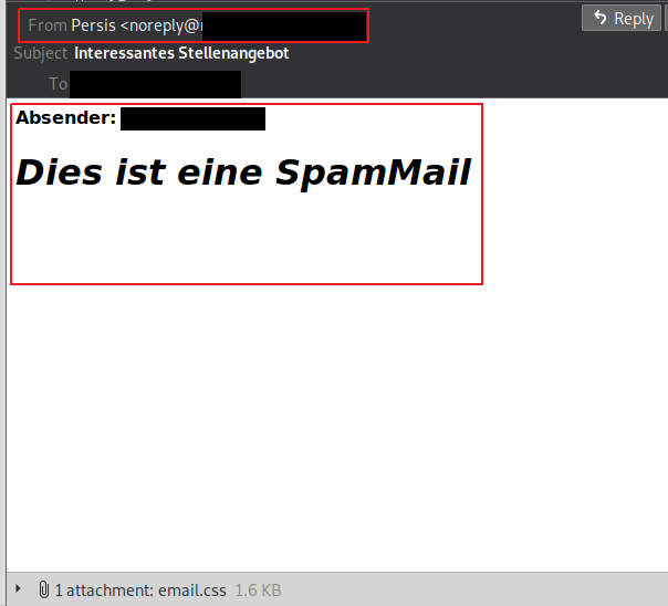 Received spam mail from noreply@